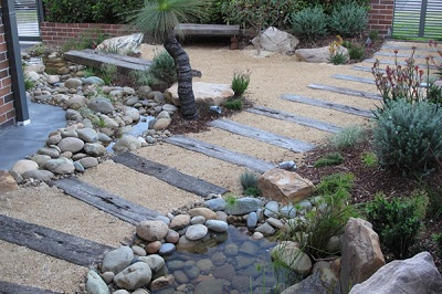 Landscaping work landscape gardener designs plans and for Australian garden designs pictures