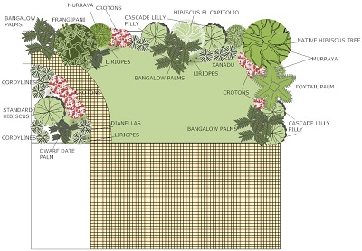tropical garden design plan - Garden Ideas Adelaide