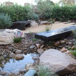 finished landscape garden construction