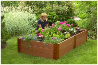 timber raised garden bed